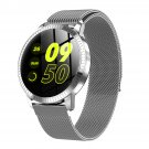 IP67 Waterproof Smart Watch Fitness Tracker Heart Rate Blood Pressure Monitor Tempered Mirror Sliver