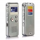 Voice Record Mini 8GB Digital Sound Audio Recorder Dictaphone MP3 Player Silver