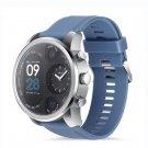 Sport Smart Watch Stainless Steel Fitness Activity Tracker IP68 Waterproof Smartwatch Silver&Blue