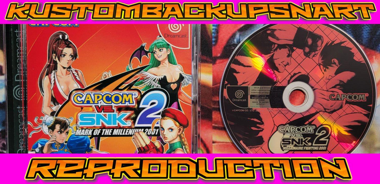 Capcom Vs SNK 2 Custom Reproduction Case and Art Disc for Sega Dreamcast
