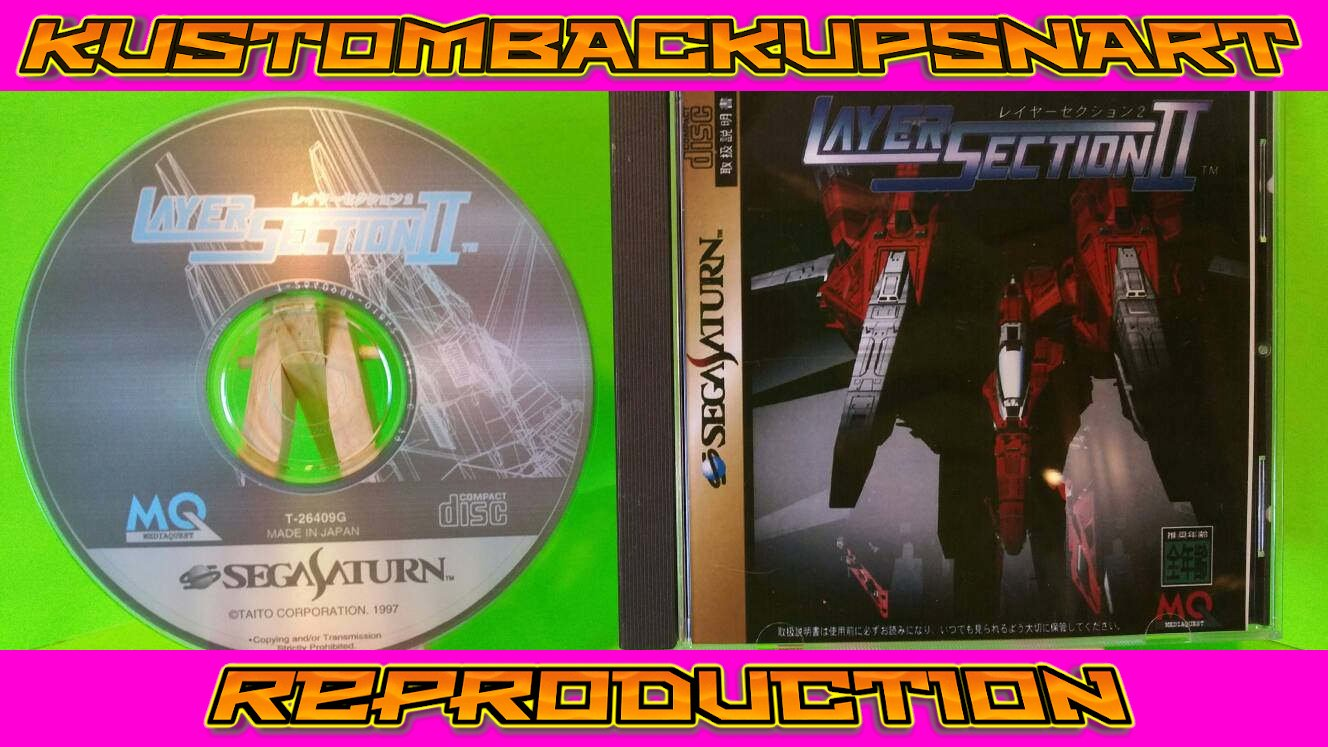 Layer Section 2 Custom Reproduction Case and Art Disc for Sega Saturn