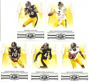 2007 Pittsburgh Steelers Donruss Threads Base Team Set