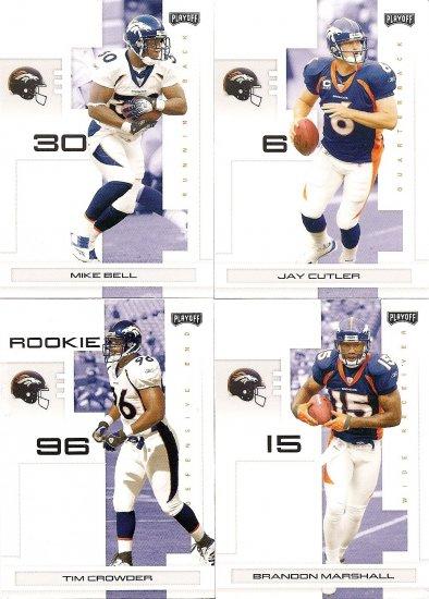 2007 Denver Broncos NFL Playoffs Team Set