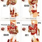 2007 Kansas City Chiefs NFL Playoffs Team Set