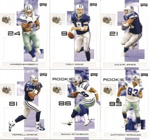 2007 Dallas Cowboys NFL Playoffs Team Set