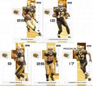 2007 New Orleans Saints NFL Playoffs Team Set