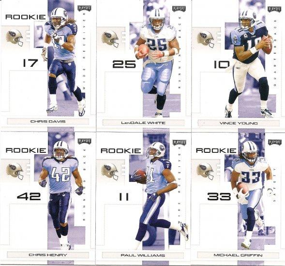 2007 Tennessee Titans NFL Playoffs Team Set
