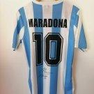 Maradona Diego Armando Jersey Argentina 10 Hand Signed with CAO.