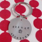 Dog Pet ID Tag Custom Personalized Sterling Silver M004