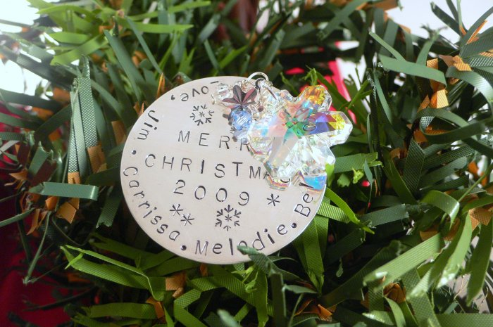 Personalized Christmas Ornament Sterling Silver M008