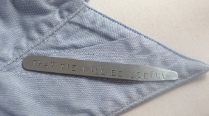 Collar Stays Custom Hand Stamped Personalized Stainless Steel Stiffeners M002