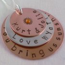 You Are My Sunshine Mixed Metal Necklace N035