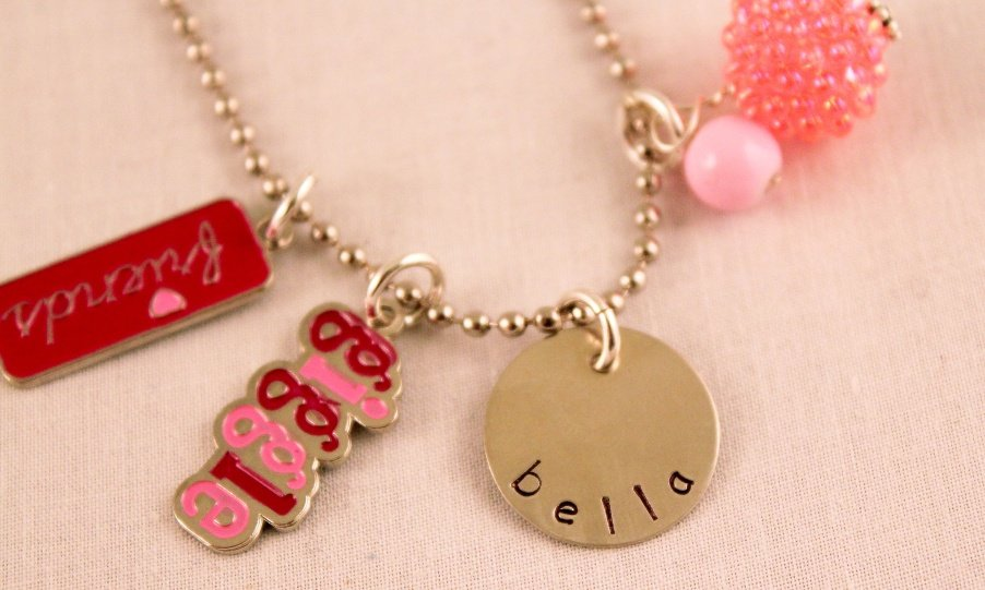 Friends Girl Charm Necklace Custom Personalized Silver N161