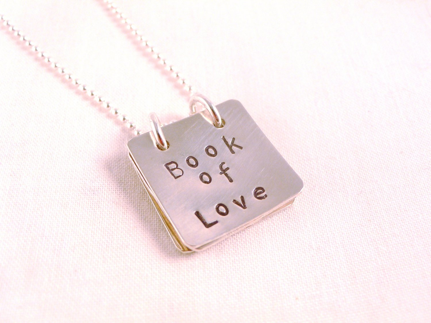 Book of Love Personalized Sterling Silver Necklace N116