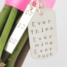 Wedding Bouquet Hang Tag Sterling Silver Date