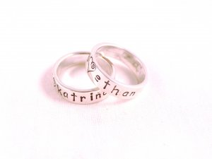 RING Hand Stamped Custom Personalized Sterling Silver Ring Size 5 R006