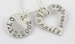 Happily Ever After Necklace Hand Stamped Sterling Silver