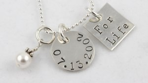 For Life Necklace Hand Stamped Sterling Silver