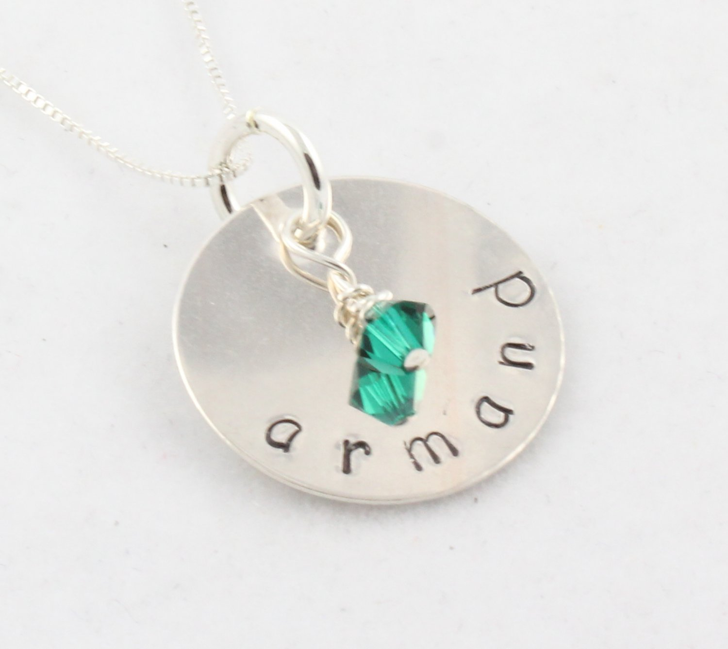 Necklace Custom Personalized Birthstone Sterling Silver N140