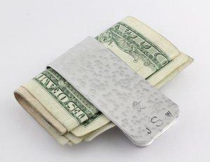 Personalized Money Clip - Custom Men Gift - Handstamped Money Clip