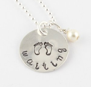 Waiting Adoption Necklace - Baby Feet - Maternity
