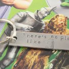 There's No Place Like Home Keychain - Wizard of Oz Aluminum Key Chain - Dorothy Keyring