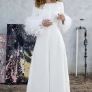 Off white Bridal jumpsuit, wedding jumpsuit, off white prom jumpsuit