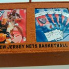 NJ Nets 2004-05 Collector's Season Ticket Holder Box made w/ Basketball leather
