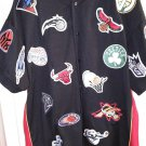 LA All Stars 2004 VINTAGE NBA TEAM PATCHES Majestic XXL RARE Button dwn Shirt BG