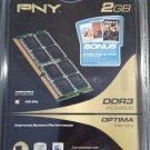 PNY PC2-8500 2 GB SO-DIMM 1066 MHz DDR3 SDRAM Memory (MN2048SD3-1066) new sealed