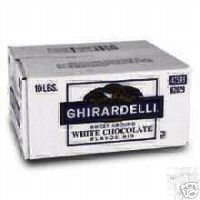 Ghirardelli White Chocolate Sweet Ground Powder 10 lbs