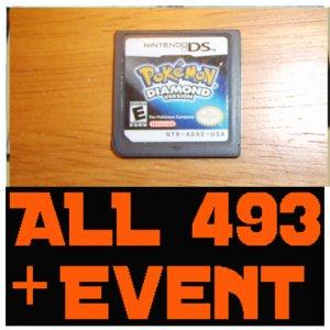 Pokemon Diamond - Preloaded With ALL 493 Pokemon 10th JAA EVENT MEW Deoxys + Arceus + UNLOCKED