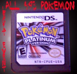 Pokemon Platinum - Preloaded With ALL 493 Pokemon 10th JAA EVENT MEW Deoxys + Arceus + UNLOCKED