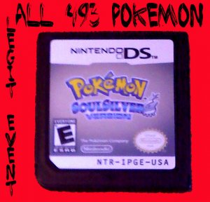 Pokemon Soulsilver LOADED with all 493 + Rare Events Shiny UNLOCKED CELEBI MEW