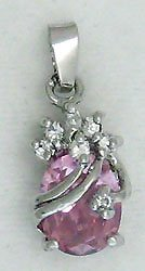Pink Pineapple Sterling Silver Pendant Necklace