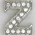 Z Letter Initial Sterling Silver Pendant Necklace