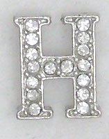 H Letter Initial Sterling Silver Pendant Necklace