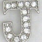 J Letter Initial Sterling Silver Pendant Necklace