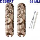 VICTORINOX SCALES / HANDLES 58 mm STD DESERT - SWISS ARMY KNIFE