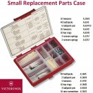 VICTORINOX REPLACEMENT PARTS CASE (TOOTHPICK TWEEZERS PENS SPRINGS) 4.0581 - SWISS ARMY KNIFE