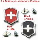 VICTORINOX 2 X BUTTON PIN VICTORINOX - SWISS ARMY KNIFE