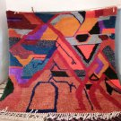 Vintage Rug Art-Moroccan Berber Carpet Antique from the High Atlas very old handmade,