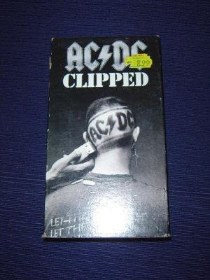 """AC/DC """"Clipped""""  VHS tape"""