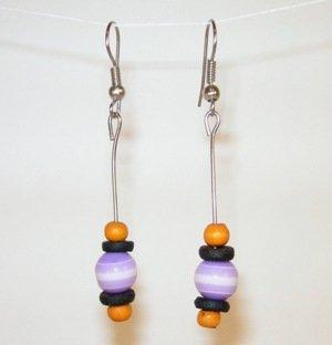 160(Inventory#) Purple stones earrings