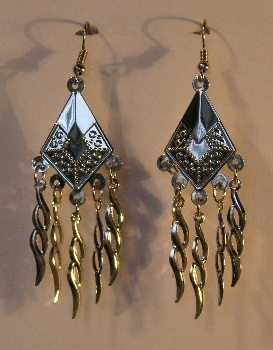 153(Inventory#) Fashion silver earrings