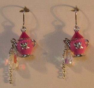 149(Inventory#) Pink pot earrings