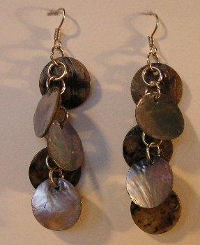 134(Inventory#) Dark gold dangling earrings