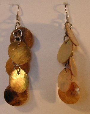 128(Inventory#) Fashion gold beads earrings