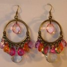 117(Inventory#) Cystal like beads earrings