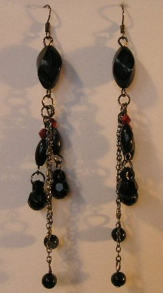 126(Inventory#) Fashion long dangling earrings